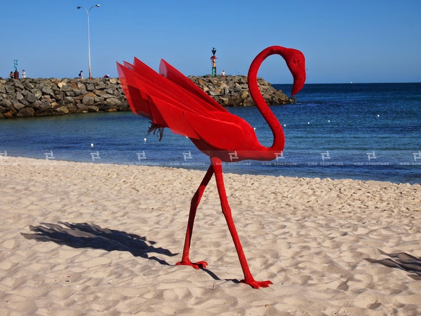 Mi No.5 in Cottesloe exhibition-flamingo-sculpture-Mi.No.5-Wendi-zhang-sculptor-china-sculpture-by-the-sea-cottesloe-perth-west-australia-bondi .jpg