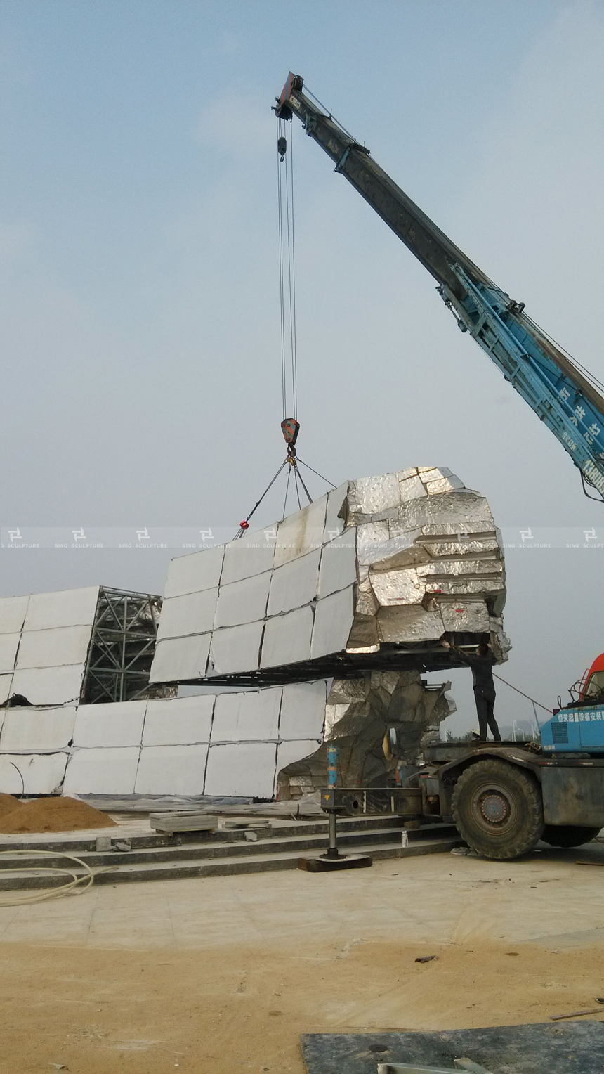 Installation of mirror-stainless-steel-sculpture .jpg